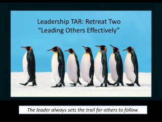 Leading Others Effectively