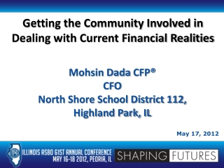 Getting the Community Involved in Dealing with Current Financial Realities