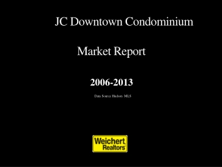 JC Downtown  Condominium                    Market Report