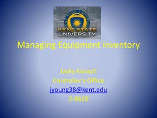 Managing Equipment Inventory