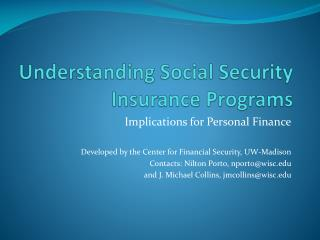 Understanding Social Security Insurance Programs