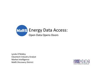 Energy Data Access:  Open Data Opens Doors