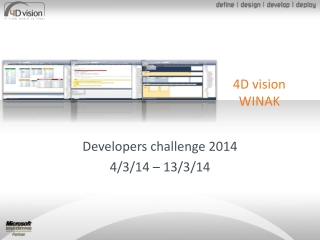 Developers challenge 2014 4/3/14 � 13/3/14