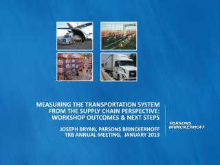 Measuring the transportation system  from the supply CHAIN perspective: Workshop outcomes & next steps Joseph BRYAN, PA