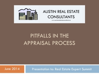 Pitfalls  in the  APPRAISAL  PROCESS