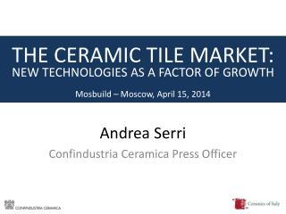 Andrea Serri Confindustria Ceramica Press Officer