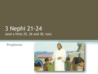 3 Nephi  21-24 (and a little 25, 26 and 30, too)