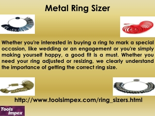 Metal Ring Sizer By Tools Impex