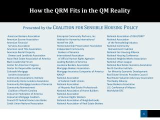 How the QRM Fits in the QM Reality