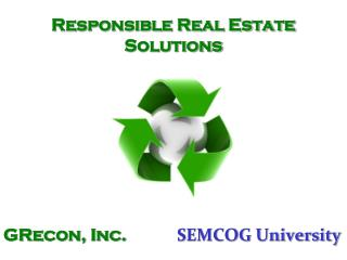 Responsible Real Estate Solutions