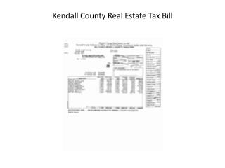 Kendall County Real Estate Tax Bill