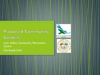 Proposed Community Gardens