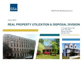 REAL PROPERTY UTILIZATION & DISPOSAL DIVISION