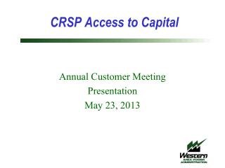 CRSP Access to Capital