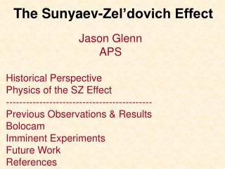 the sunyaev-zel dovich effect