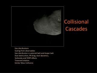 Collisional  Cascades