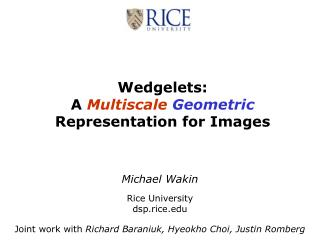 wedgelets:  a multiscale geometric representation for images