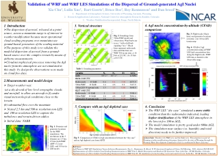 Validation of WRF and WRF LES Simulations of the Dispersal of Ground-generated  AgI Nuclei