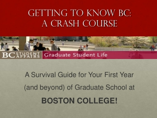 Getting to know BC:  A Crash Course