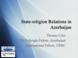 State-religion Relations in Azerbaijan