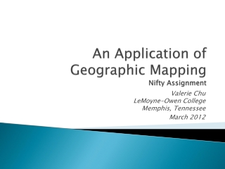 An Application of Geographic Mapping  Nifty Assignment