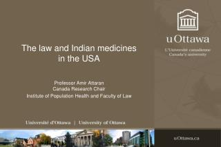 The law and Indian medicines in the USA