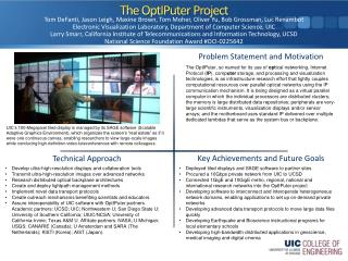 The  OptIPuter  Project
