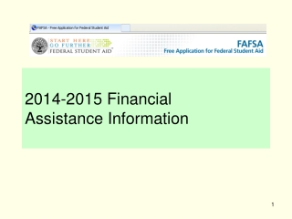 2014-2015 Financial  Assistance Information