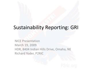 Sustainability Reporting: GRI