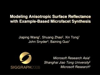 modeling anisotropic surface reflectance  with example-based microfacet synthesis