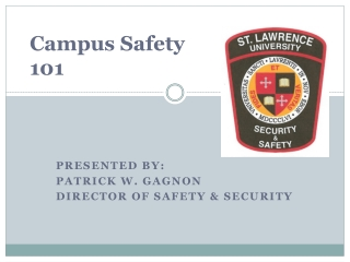Campus Safety  101
