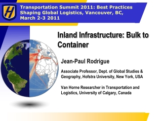 Inland  Infrastructure :  Bulk  to  Container