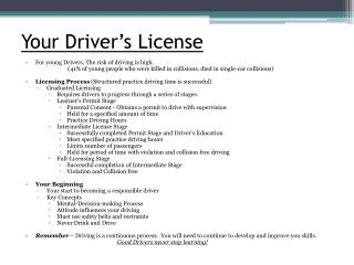 Your Driver's License