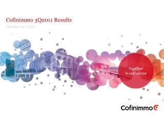 Cofinimmo  3Q2011  Results
