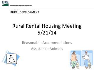 Rural Rental Housing Meeting 5/21/14