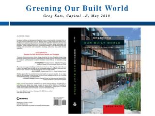 Greening Our Built  World