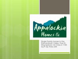 Single Family homes  in the  Shenandoah  Valley.  Frye  St, Waynesboro VA Class  6 1100  Sq.Ft  Zip Area 244