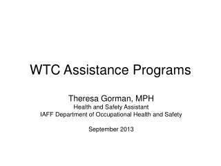WTC Assistance Programs