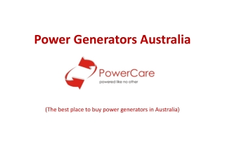Power Generators Australia