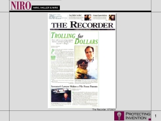 The Recorder, 07/30/01