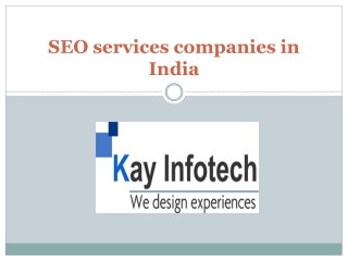 SEO services companies in India