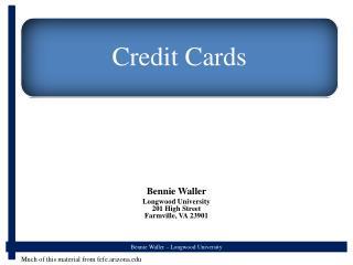 Bennie Waller Longwood University 201 High Street Farmville, VA 23901