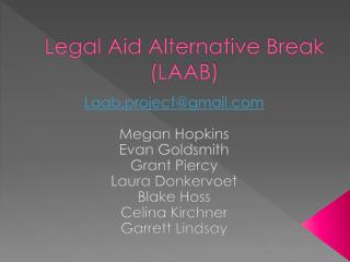 Legal Aid Alternative Break (LAAB)