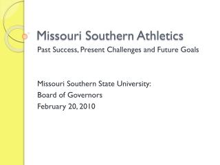 Missouri Southern Athletics