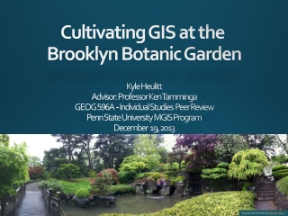 Cultivating GIS at the  Brooklyn Botanic Garden