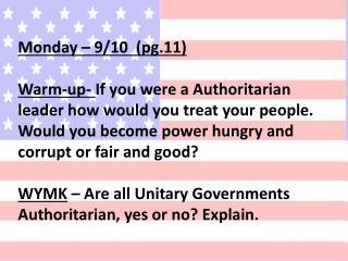 Monday – 9/10  (pg.11)