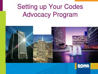 Setting up Your  Codes  Advocacy  Program