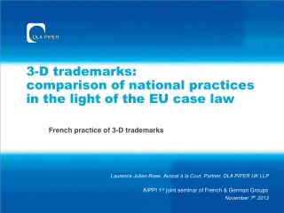 3-D trademarks:  comparison of national practices in the light of the EU case law
