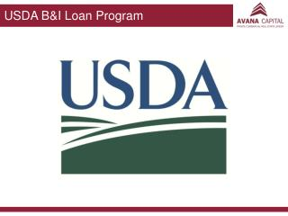 USDA B&I  Loan Program
