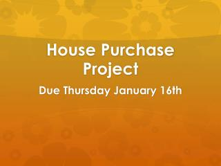 House Purchase Project